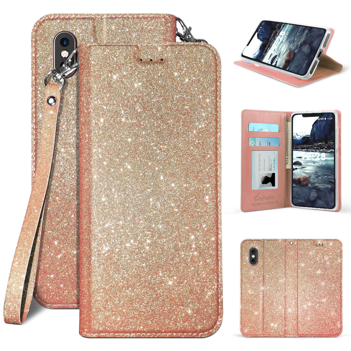 Infolio B For Apple iPhone XS / X / 5.8'' Rose Gold