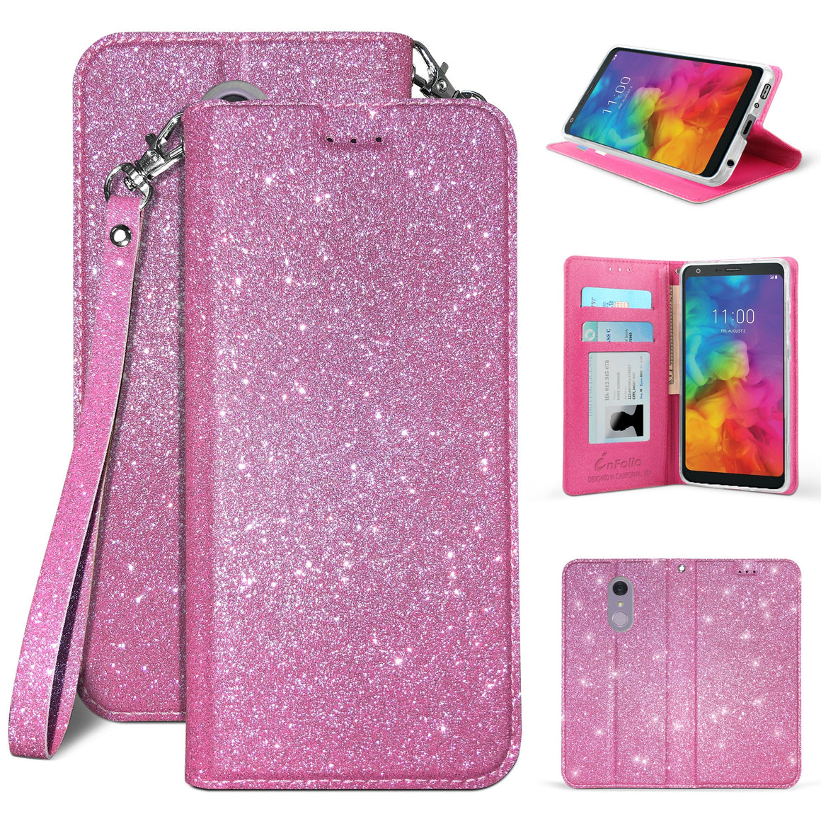 Infolio B For LG Q7/ Q7 Plus Hot Pink