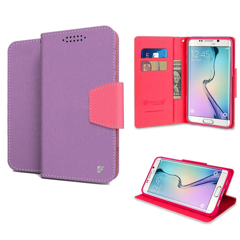 Infolio For Samsung Galaxy S6 Edge Plus Purple/Pink with Pink Gel