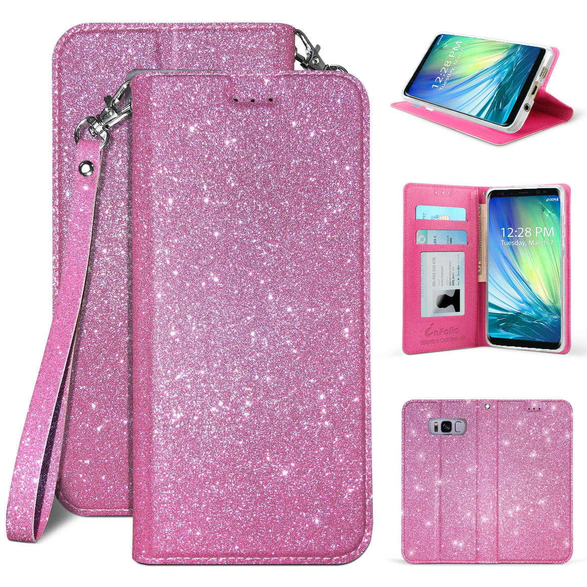Infolio B For Samsung Galaxy S8 SM-950 Hot Pink