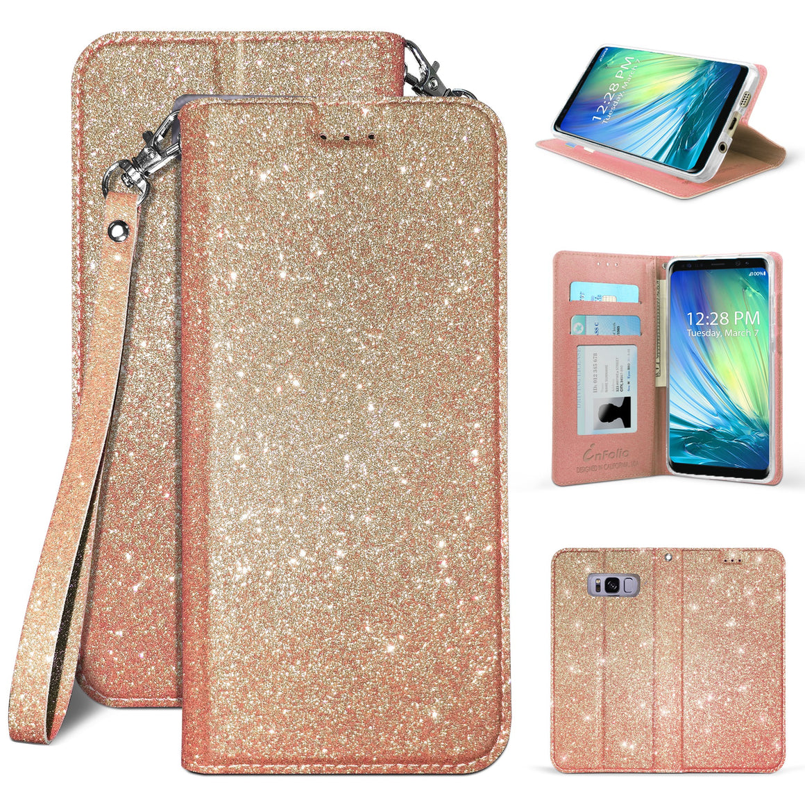 Infolio B For Samsung Galaxy S8 SM-950 Rose Gold