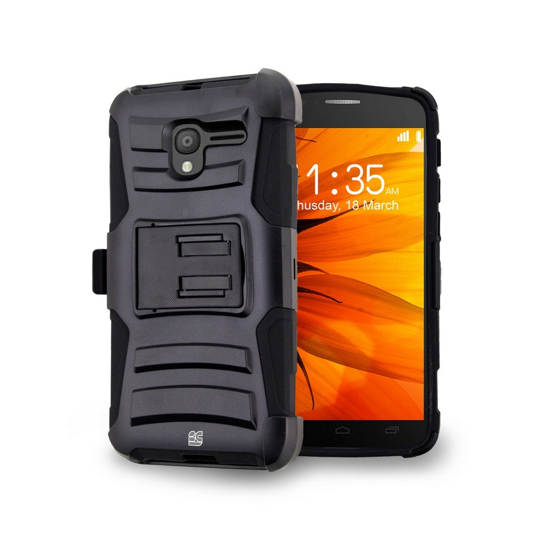 Armor Kombo For Alcatel Stellar/TRU 5065N Black/Black