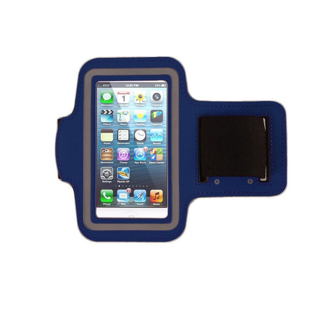 Neoprene Armband Size 01 For Iphone 4G/4S/5/5C/5S & I touch 5th Gen & Samsung i437/s4M & LG W7 & kyocera C6721/C5120 & Nokia 521 Dark Blue