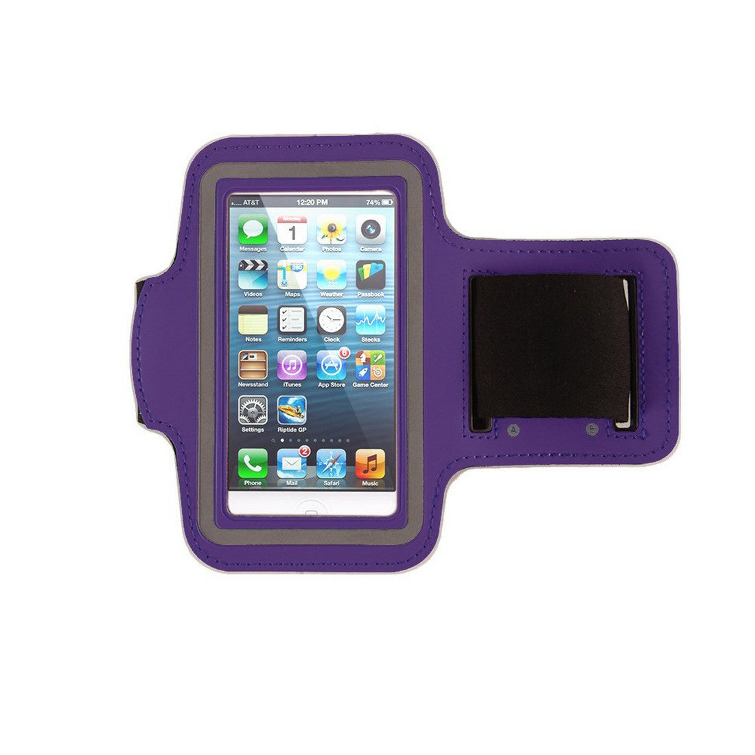 Neoprene Armband Size 01 For Iphone 4G/4S/5/5C/5S & I touch 5th Gen & Samsung i437/s4M & LG W7 & kyocera C6721/C5120 & Nokia 521 Purple