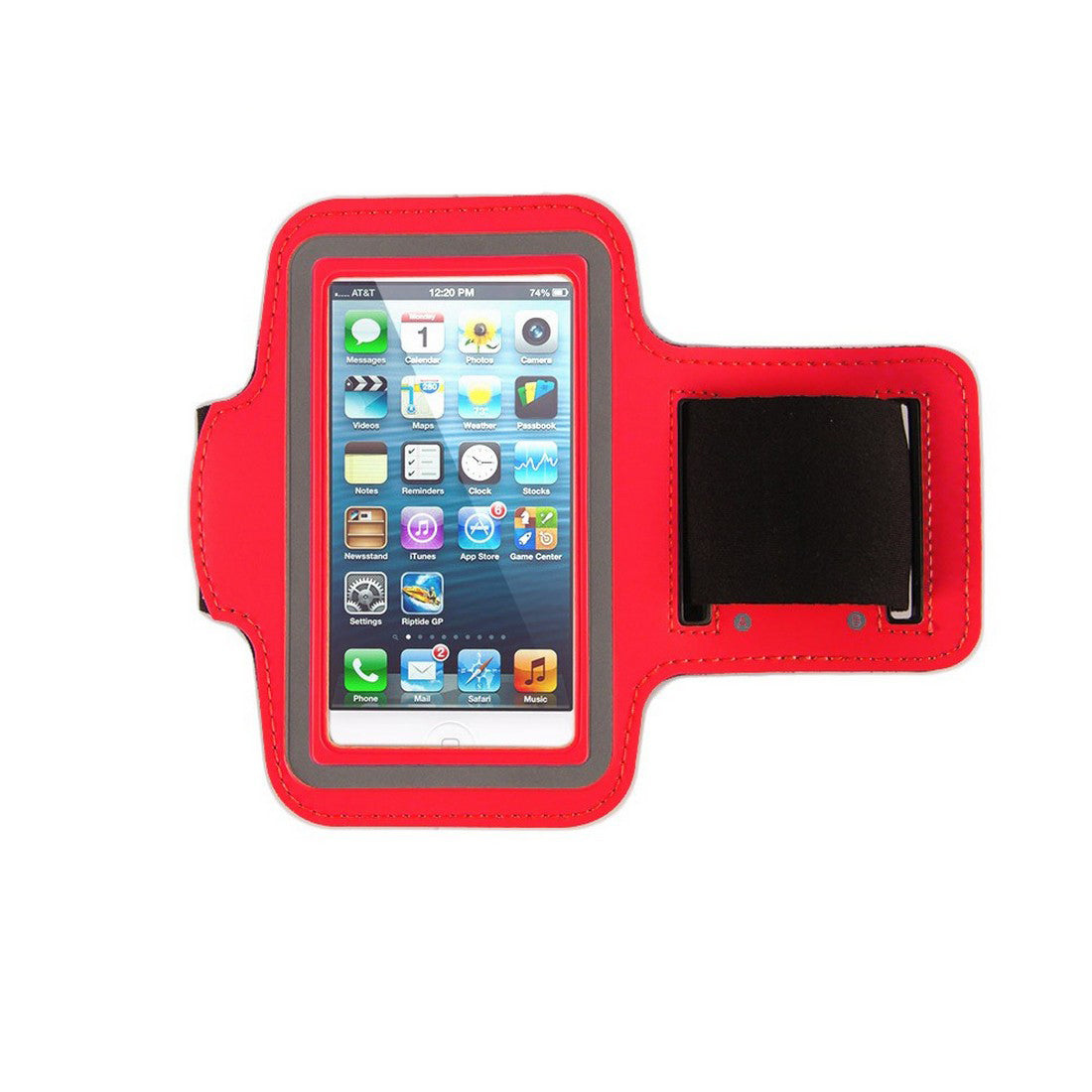 Neoprene Armband Size 01 For Iphone 4G/4S/5/5C/5S & I touch 5th Gen & Samsung i437/s4M & LG W7 & kyocera C6721/C5120 & Nokia 521 Red