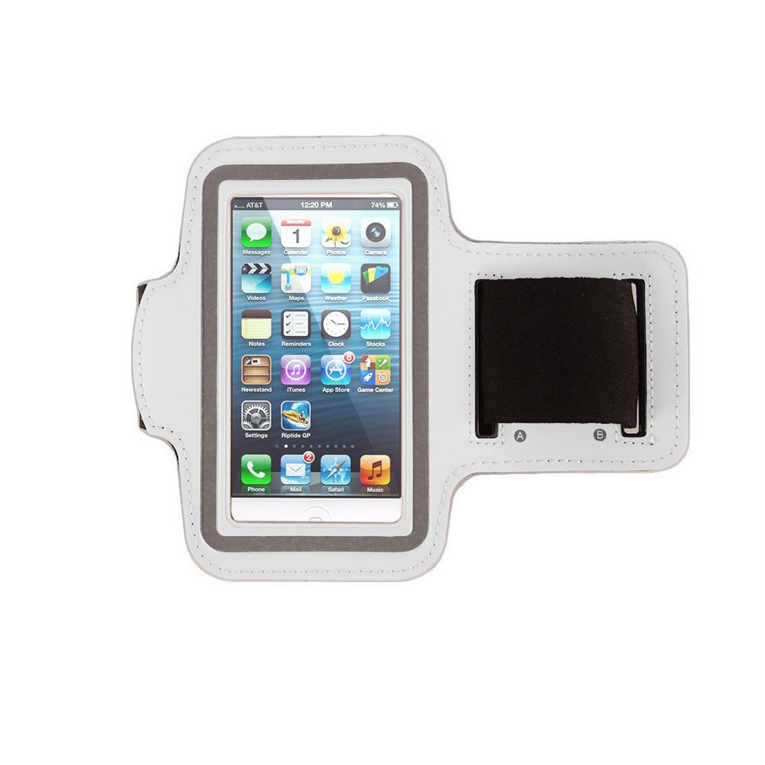 Neoprene Armband Size 01 For Iphone 4G/4S/5/5C/5S & I touch 5th Gen & Samsung i437/s4M & LG W7 & kyocera C6721/C5120 & Nokia 521 White