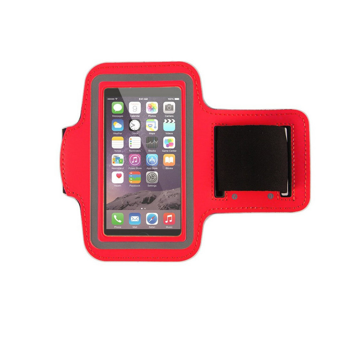 "Neoprene Armband Size 02 For iPhone 6S/ 6 4.7"" & Samsung Galaxy S3 S4 S5 & LG G2 & Nokia N920 & BlackBerry Z10 & HTC M7 Red"