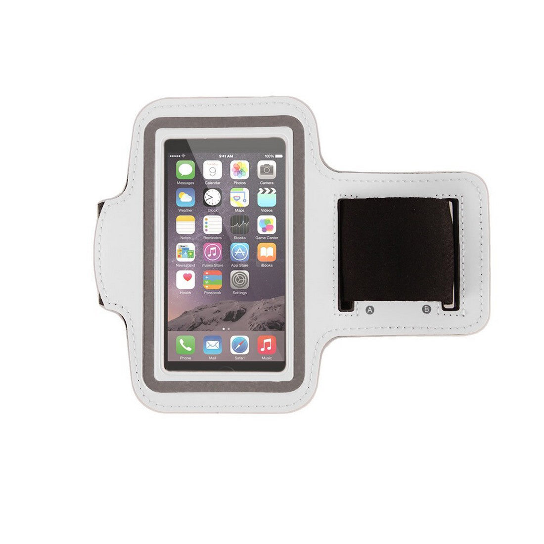 "Neoprene Armband Size 02 For iPhone 6S/ 6 4.7"" & Samsung Galaxy S3 S4 S5 & LG G2 & Nokia N920 & BlackBerry Z10 & HTC M7 White"