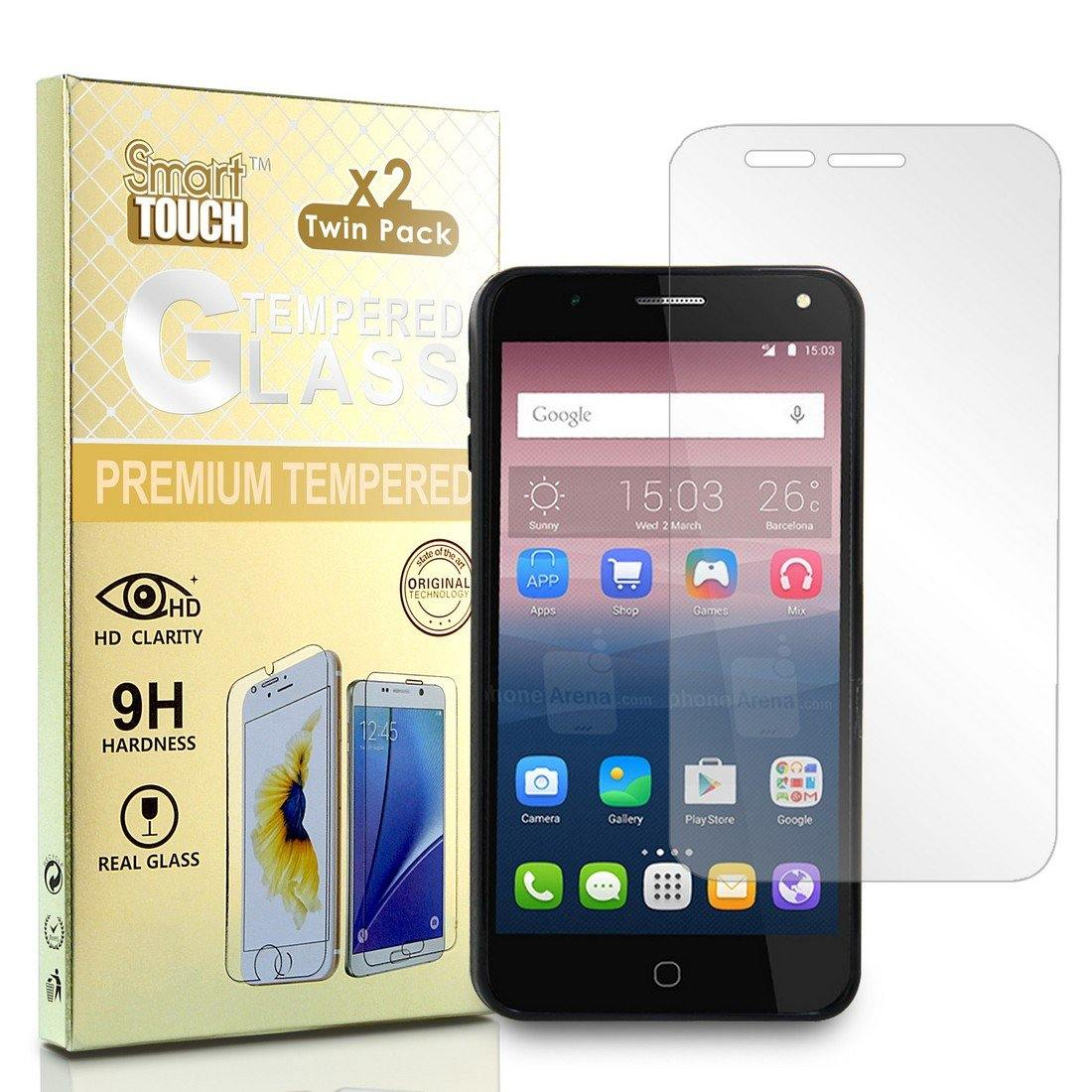 2Pcs Pack Tempered Glass For Alcatel POP 4 Plus / Fierce 4 / Allura 5056 Screen Edges Are Not Fully Cover