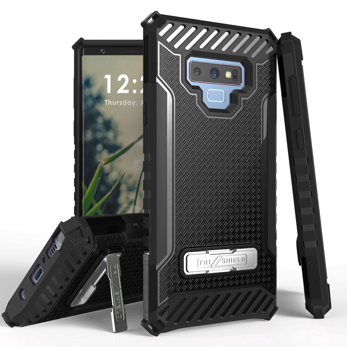 Tri Shield For Samsung Galaxy Note 9 Black/Black, TPU Case,Kickstand,
