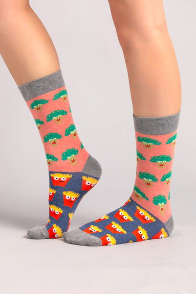 Broccoli vs fries socks