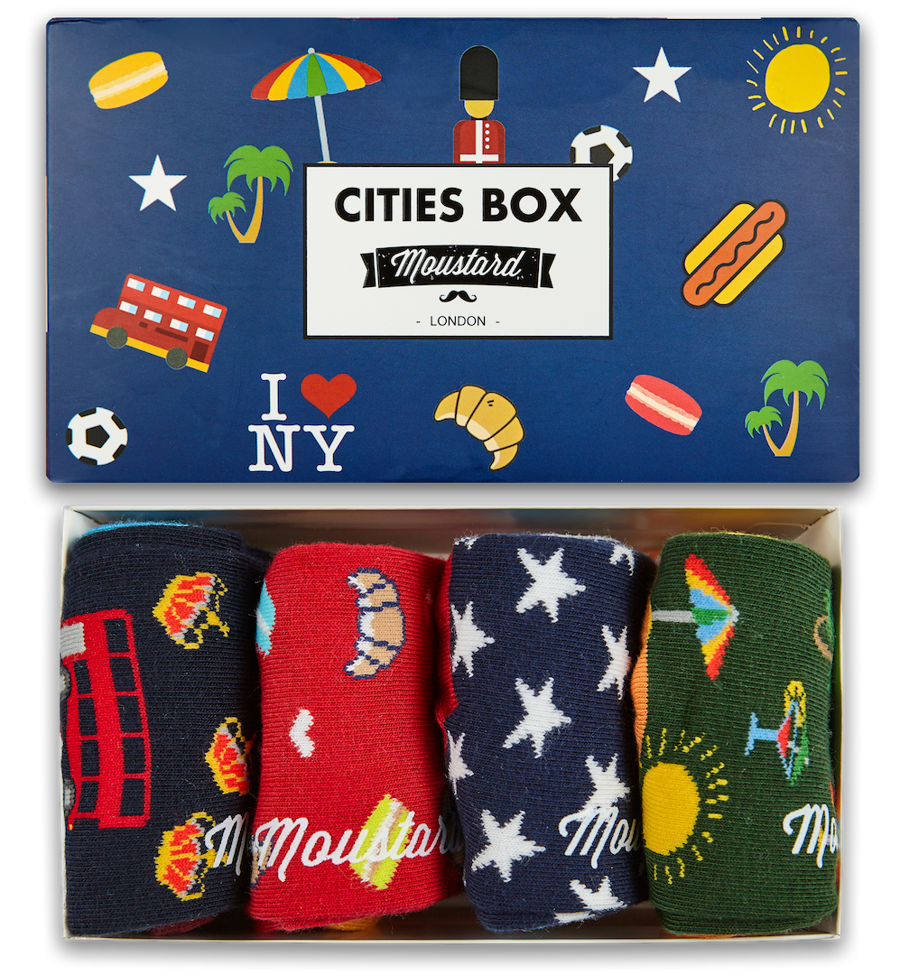 Cities Socks Box
