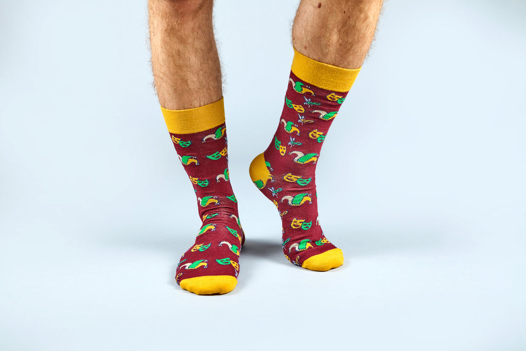 Mardi Grass Socks