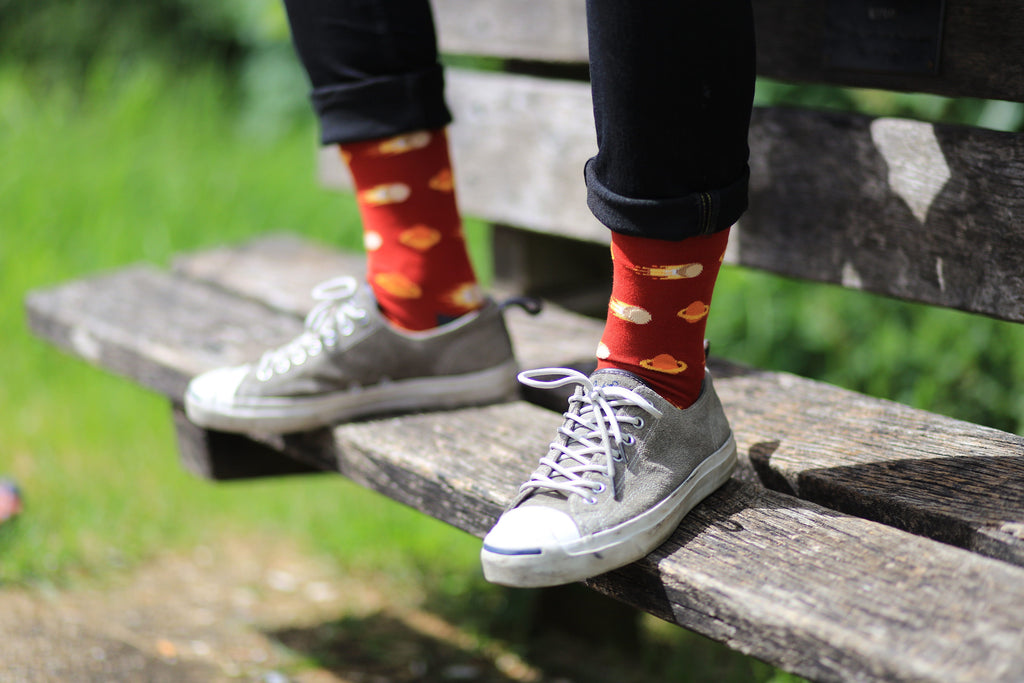 Comets red cotton socks outdoor