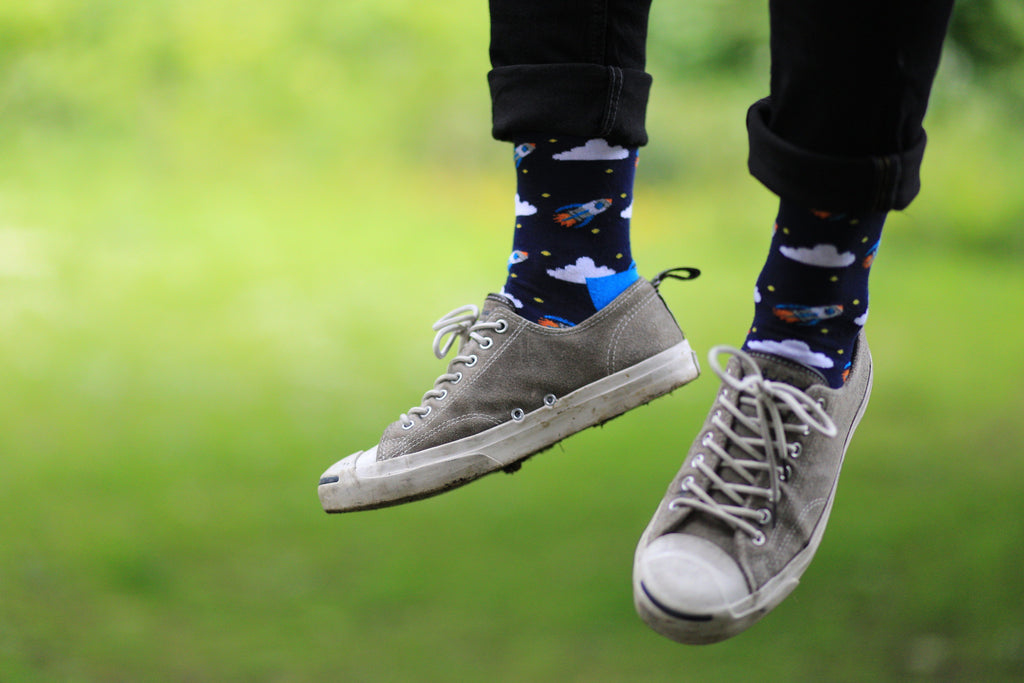 Rockets blue cotton socks outdoor