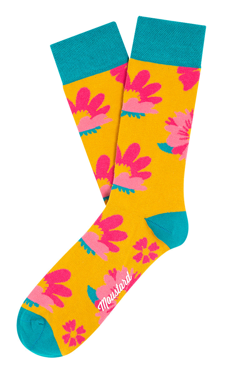 Witty Lilly flower socks