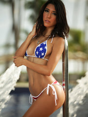 Stars and Stripes Scrunch Butt Bikini