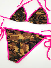 Camouflage with Pink Full Bikini