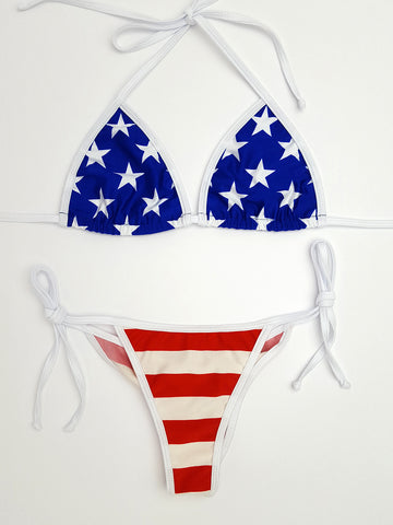 Stars and Stripes Micro Scrunch Bikini