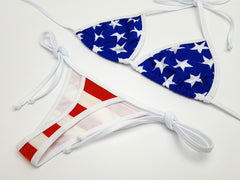 Stars and Stripes Thong Bikini
