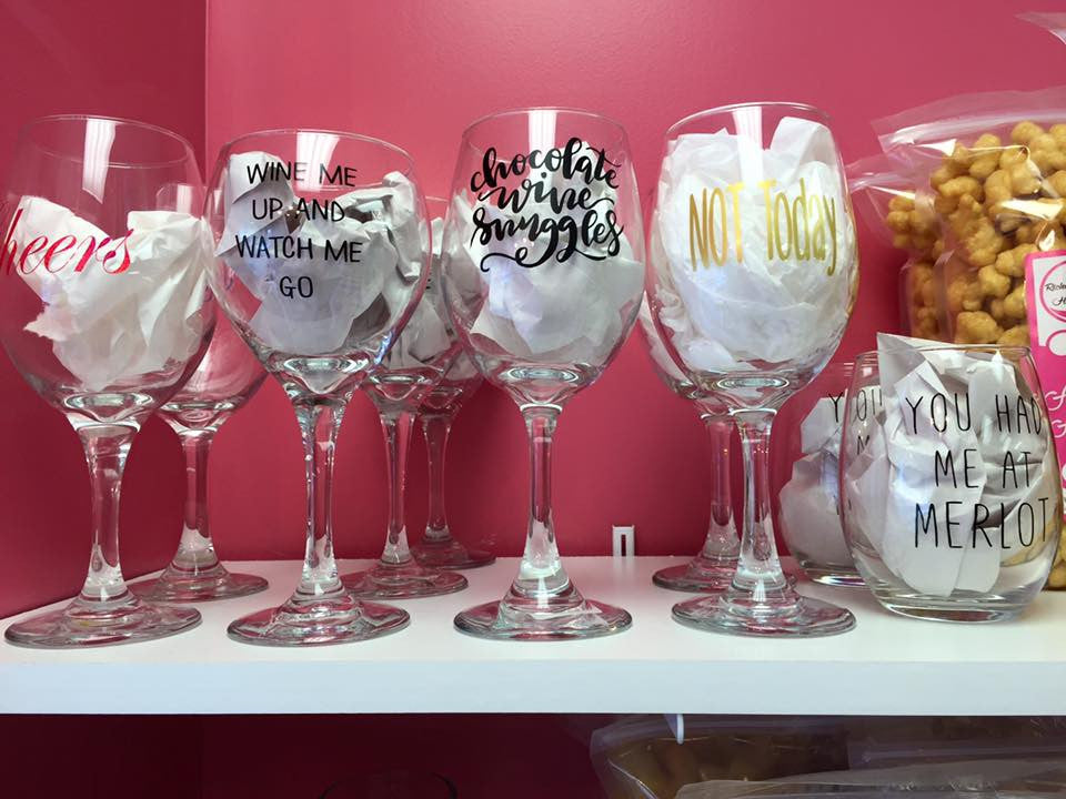 Stenciled Glasses, Cups, Mugs