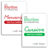 Rhythm of Handwriting Tactile Cards - Manuscript and Cursive