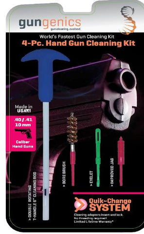 Gungenics Quik-Change 4-Pc. Hand Gun Cleaning Kit