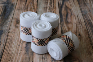 Polo Wraps / Stable Wraps, Set of 4 , Standard Size Fashion Themed Burberry Inspired Ribbon