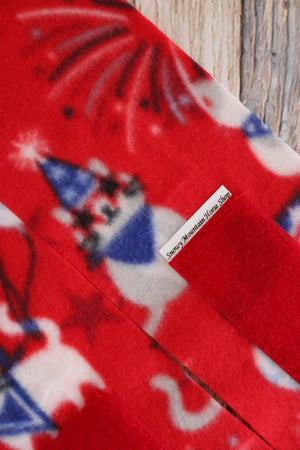 Polo Wraps / Stable Wraps, Set of 2 OR 4 Standard Size, Patriotic Kitties, Cats, USA Flag