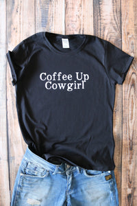 Coffee Up Cowgirl Horse, Equine T- shirt