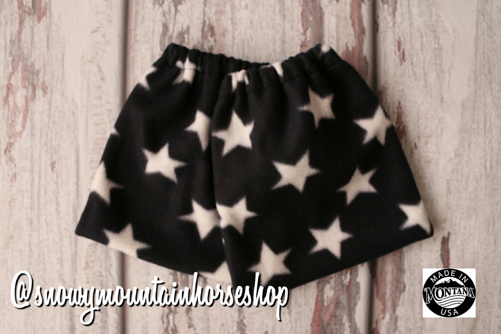 English Stirrup Covers, Stirrup Bag, Equine Iron Covers, Elastic Closing, Navy Stars Patriotic