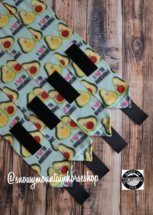 Polo Wraps / Stable Wraps, Set of 2 OR 4 Standard Size, Avocuddle Avocado