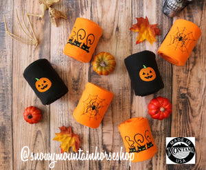 Polo Wraps / Stable Wraps, Set of 4 OR Set of 2, Standard Size,  Boo Cats, Halloween, Embroidered Polo Wraps