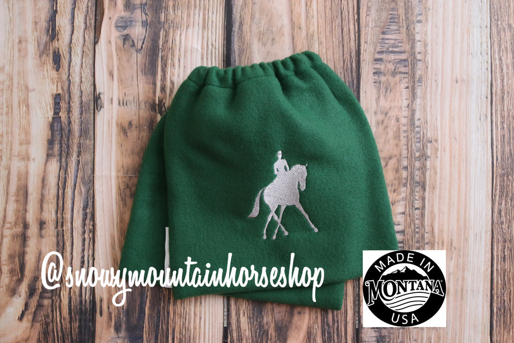 Equine Iron Covers Elastic Closing English Stirrup Covers Stirrup Bag Embroidered Jumping Horse Hunter Jumper Choose Base /& Thread Color