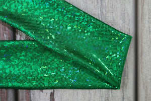 "Lycra Tail Bag For Horses Size Medium 29"" Hologram Green Broken Glass Effect"