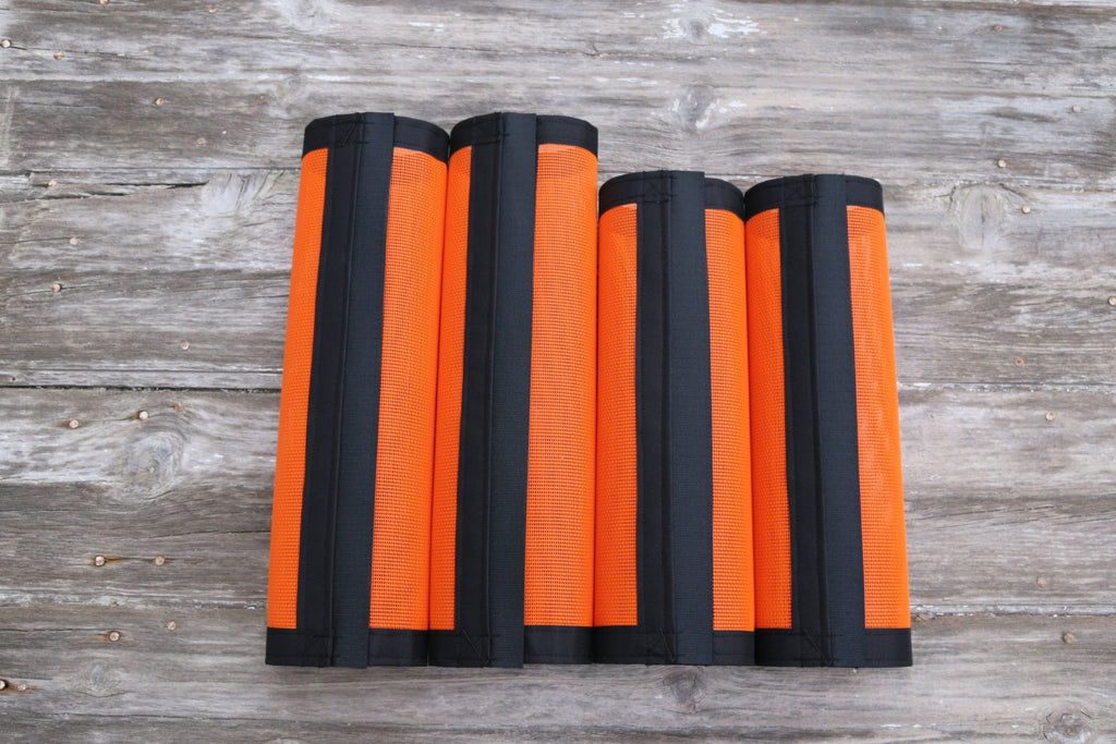 Fly Protective Leg Wraps / Leggings For Horses, Straight Style Set Of Four, Fly Protection For Horses, Orange