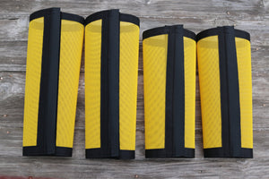Fly Protective Leg Wraps / Leggings For Horses, Tapered  Style Set Of Four, Fly Protection For Horses, Yellow