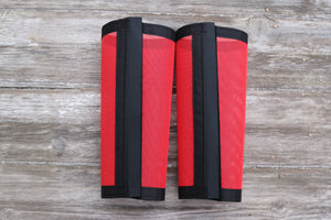 Fly Protective Leg Wraps / Leggings For Horses, Tapered Style Set Of Two,Fly Protection For Horses, Red