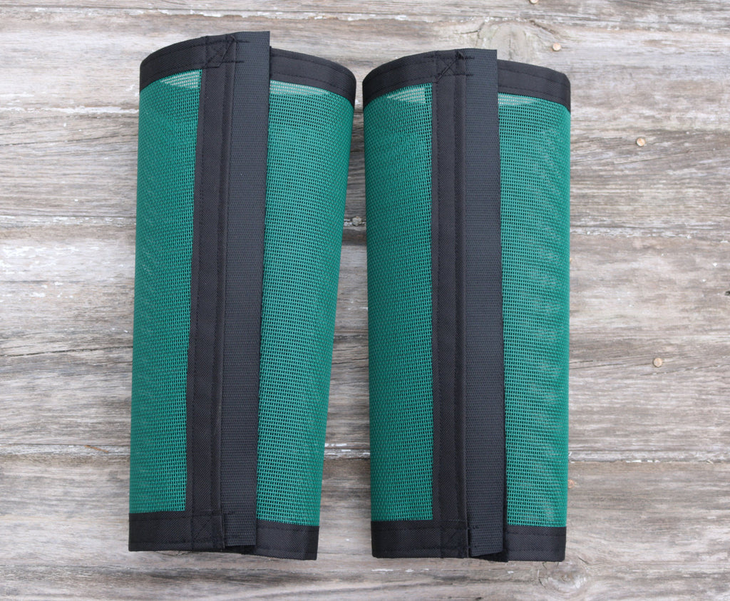Fly Protective Leg Wraps / Leggings For Horses, Tapered Style Set Of Two,Fly Protection For Horses, Green