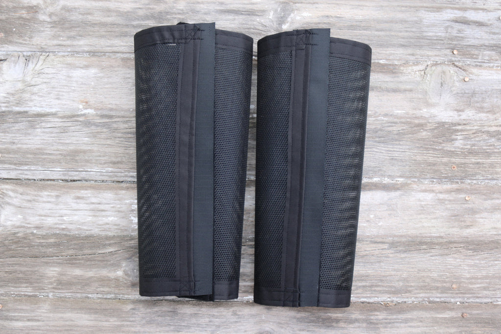 Fly Protective Leg Wraps / Leggings For Horses, Tapered Style Set Of Two,Fly Protection For Horses, Black