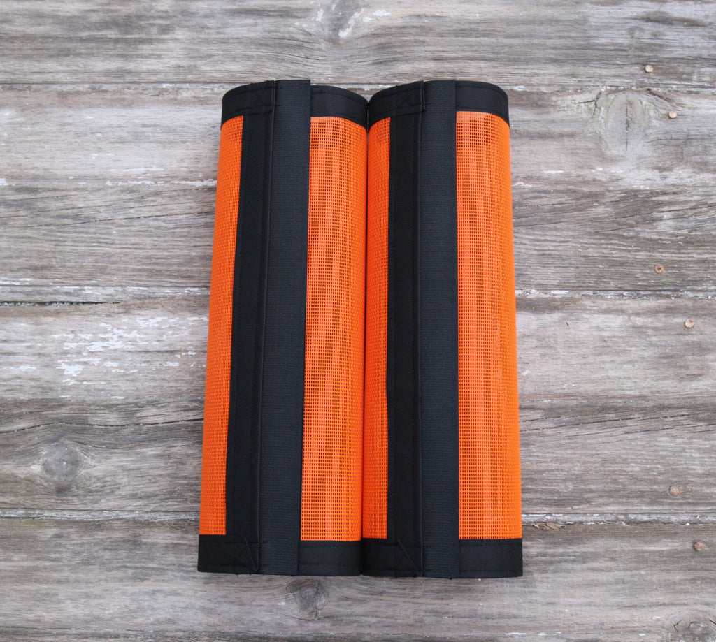 Fly Protective Leg Wraps / Leggings For Horses, Straight Style Set Of Two,Fly Protection For Horses, Orange