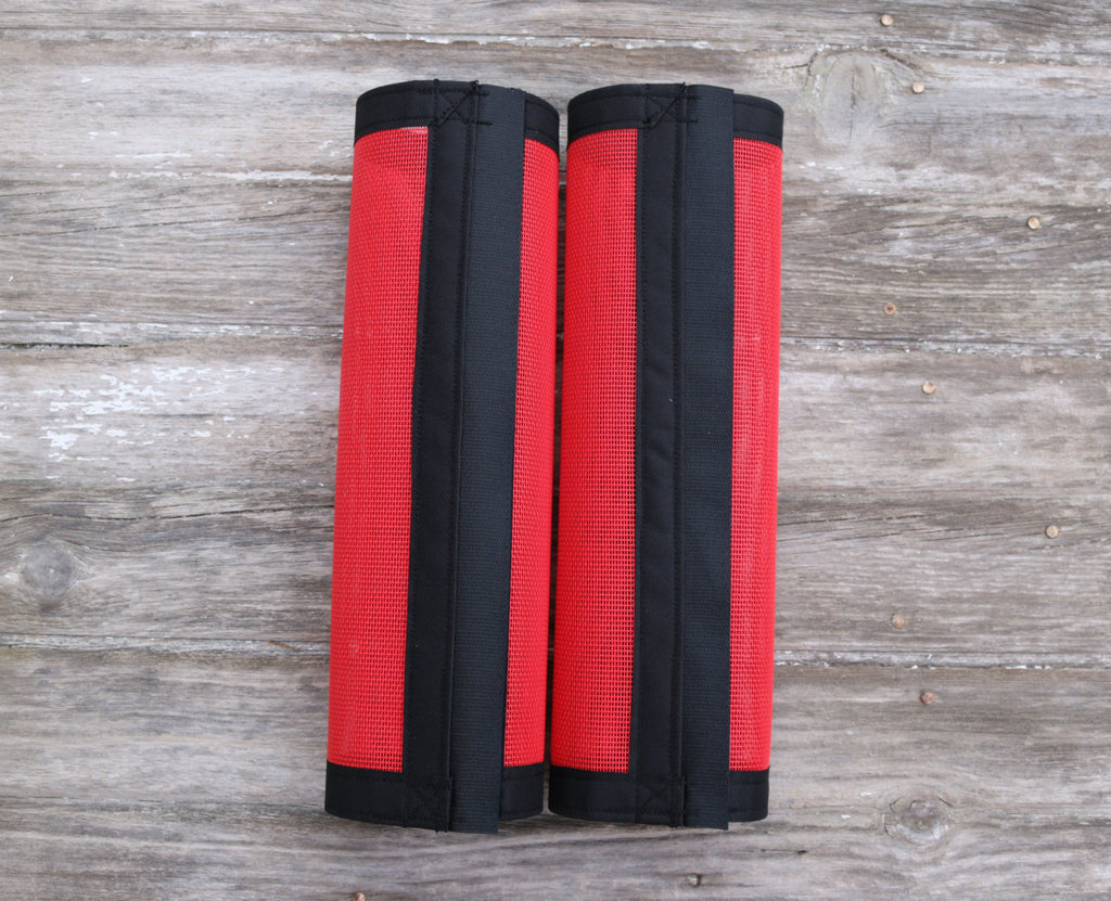 Fly Protective Leg Wraps / Leggings For Horses, Straight Style Set Of Two,Fly Protection For Horses, Red