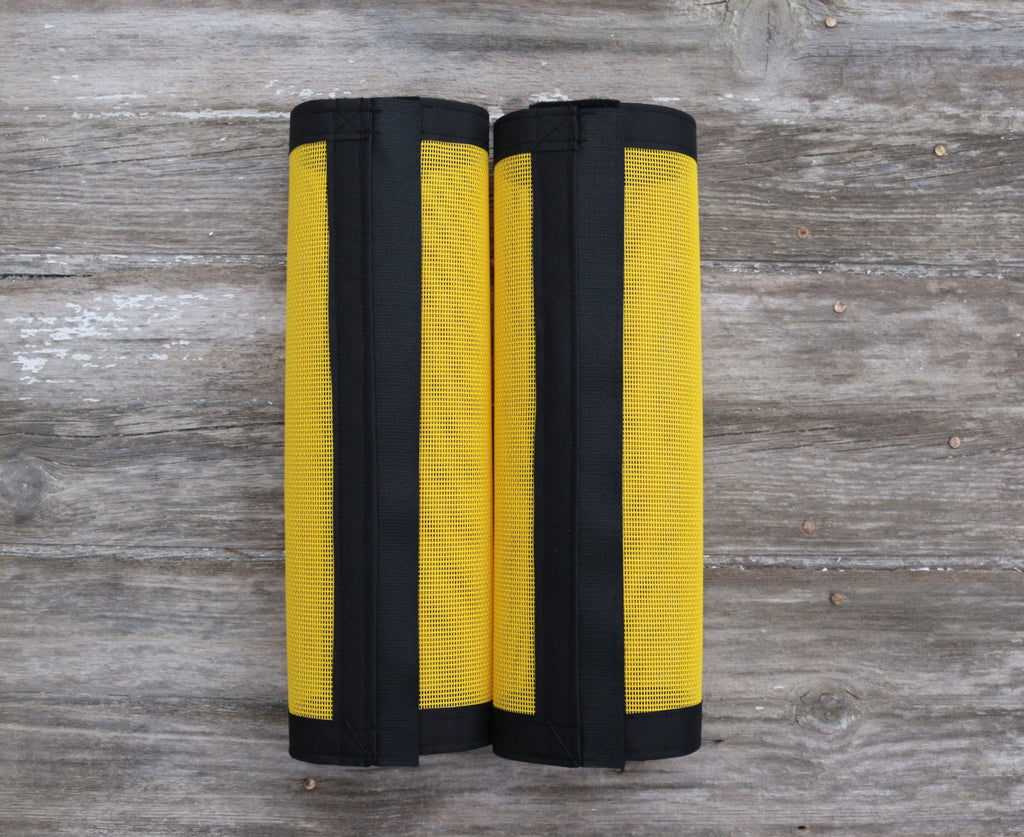Fly Protective Leg Wraps / Leggings For Horses, Straight Style Set Of Two,Fly Protection For Horses, Yellow