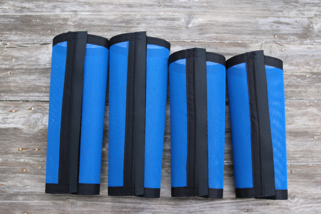 Fly Protective Leg Wraps / Leggings For Horses, Tapered  Style Set Of Four, Fly Protection For Horses, Blue