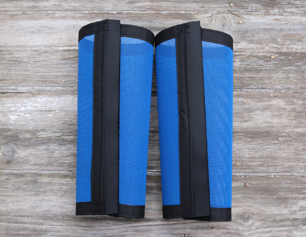 Fly Protective Leg Wraps / Leggings For Horses, Tapered Style Set Of Two,Fly Protection For Horses, Blue