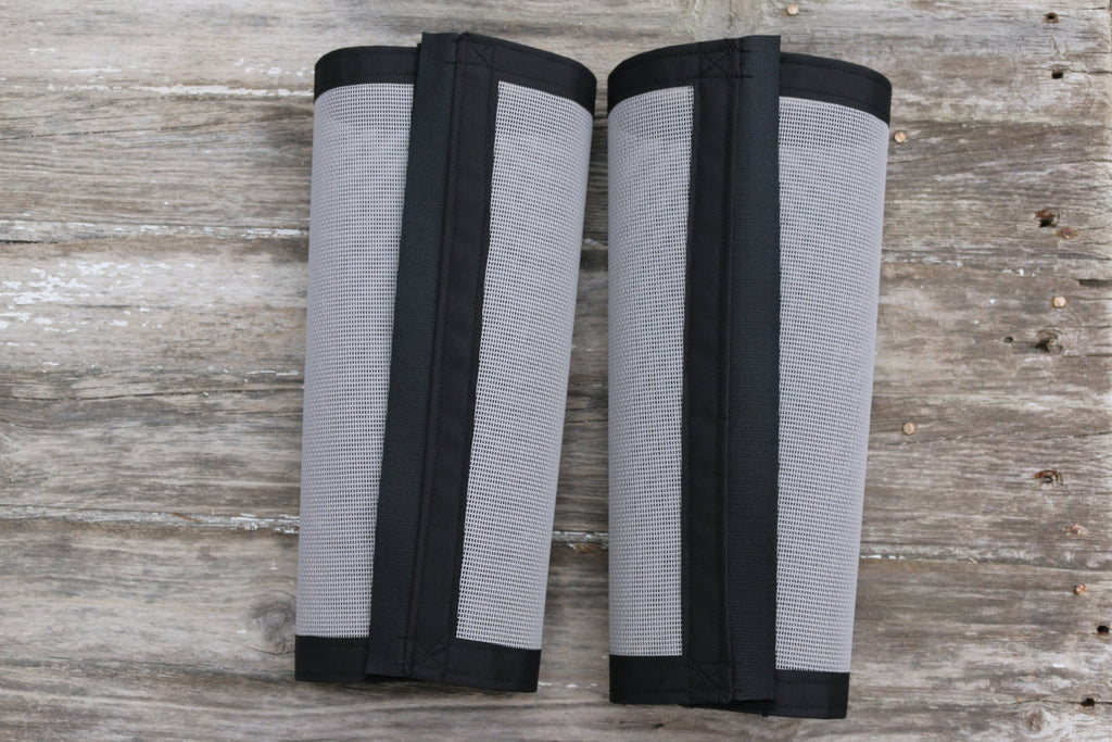Fly Protective Leg Wraps / Leggings For Horses, Tapered Style Set Of Two,Fly Protection For Horses, Gray