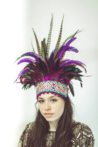 One of a kind : Luxury giant purple headpiece