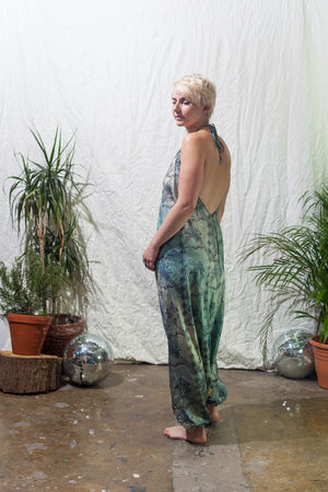 Dreams of Atlantis -  Festival jumpsuit/romper/one-piece made from reclaimed vintage sari