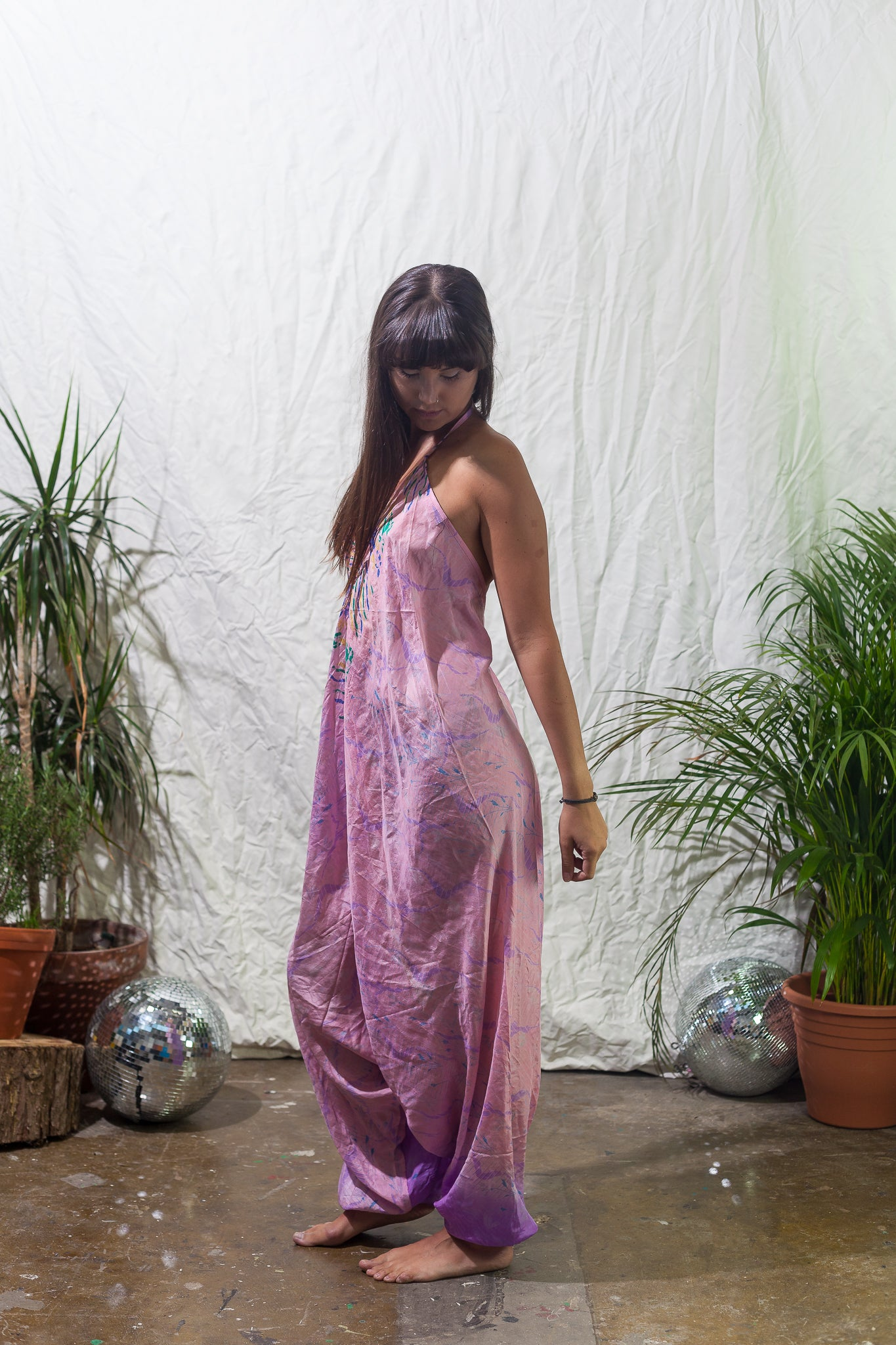 Pastel Dream -  Festival jumpsuit/romper/one-piece made from reclaimed vintage sari .