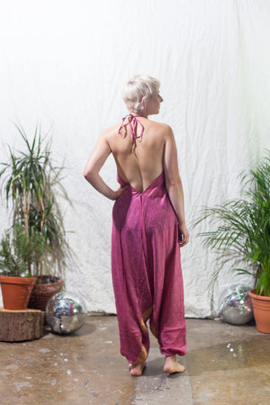 Maharani  -  festival jumpsuit/romper/one-piece made from reclaimed vintage sari